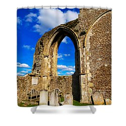Winchelsea Church Shower Curtain by Louise Heusinkveld