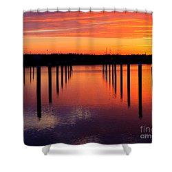 Winchester Bay Sunset Shower Curtain