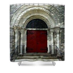 Shower Curtain featuring the photograph Winchester Church by Joseph Skompski