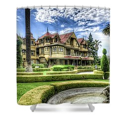 Winchester Mystery House Shower Curtain by Jim Thompson