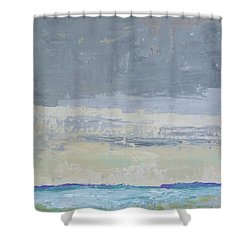 Wind And Rain On The Bay Shower Curtain by Gail Kent