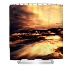Wind And Water Shower Curtain by Bob Orsillo