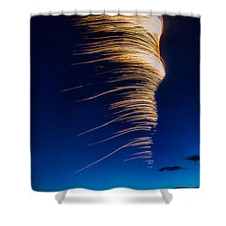 Wind As Light Shower Curtain