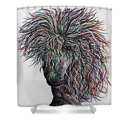 Wind Shower Curtain by Eloise Schneider