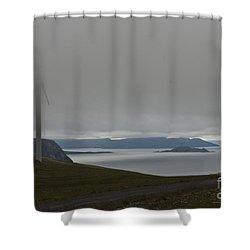 Wind Energy Shower Curtain by Heiko Koehrer-Wagner