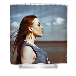 Wind In Her Hair Shower Curtain by Craig B