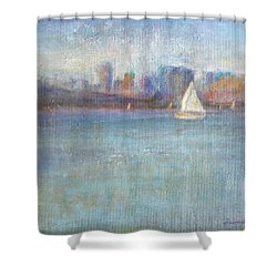 Wind In My Sails Shower Curtain by Quin Sweetman