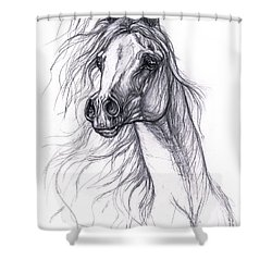 Wind In The Mane 2 Shower Curtain by Angel  Tarantella