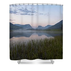 Wind River Morning Shower Curtain