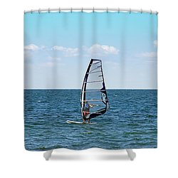 Wind Surfer Shower Curtain by Aimee L Maher Photography and Art Visit ALMGallerydotcom