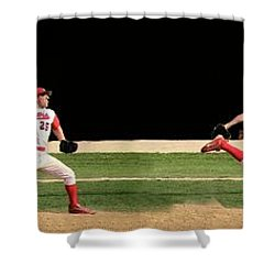 Wind Up And Delivery 4 Panel Composite Digital Art Shower Curtain by Thomas Woolworth