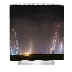 Windfarm Bolts Shower Curtain
