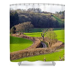 Winding Country Lane Shower Curtain by Tony Murtagh