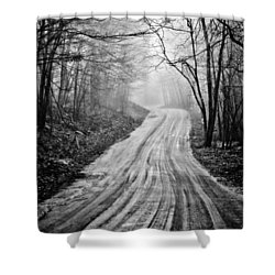 Winding Dirt Road Shower Curtain by Karol Livote