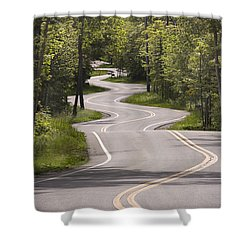 Winding Road Door County Shower Curtain