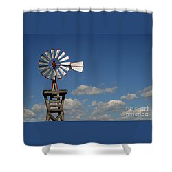 Windmill-5764b Shower Curtain by Gary Gingrich Galleries