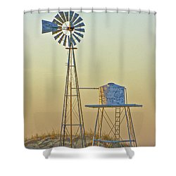 Windmill At Dawn 2011 Shower Curtain