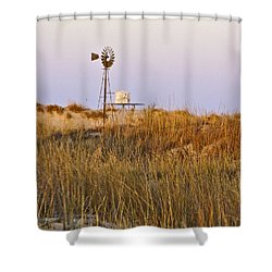 Windmill At Dusk 2011 Shower Curtain