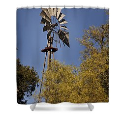 Windmill Shower Curtain by David Millenheft