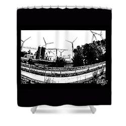 Windmill Farm Shower Curtain by Gerry Robins