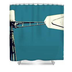 Windmill 2 Shower Curtain by Valerie Reeves