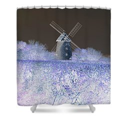 Windmill In A Purple Haze Shower Curtain