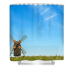 Windmill Portrait Shower Curtain