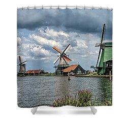 Windmill Trio Shower Curtain