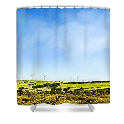 Windmill Shower Curtain by Yew Kwang