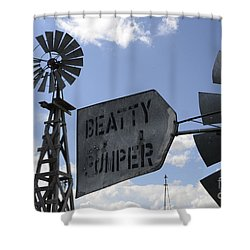 Windmills 1 Shower Curtain by Bob Christopher