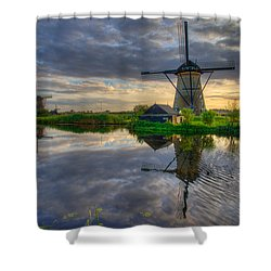 Windmills Shower Curtain by Chad Dutson