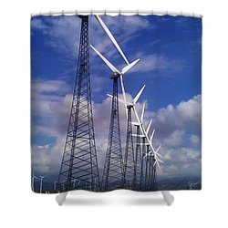 Shower Curtain featuring the photograph Windmills by Chris Tarpening