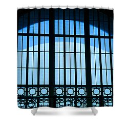 Shower Curtain featuring the photograph Window In Chattanooga Train Depot by Susan  McMenamin