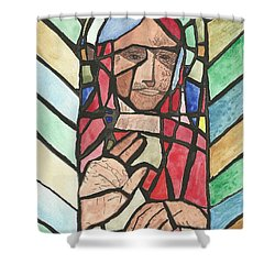 Shower Curtain featuring the painting Window Of Peace by Tracey Williams