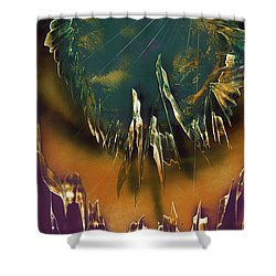 Shower Curtain featuring the painting Reefs by Jason Girard