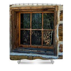 Window Reflection Shower Curtain by Paul Freidlund