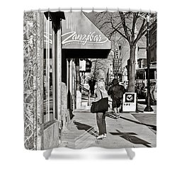 Window Shopping In Lancaster Shower Curtain by Trish Tritz