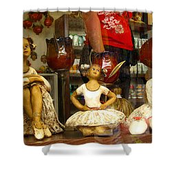 Shower Curtain featuring the photograph Window Shopping by Leena Pekkalainen