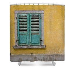 Window Shutter Shower Curtain by Heiko Koehrer-Wagner