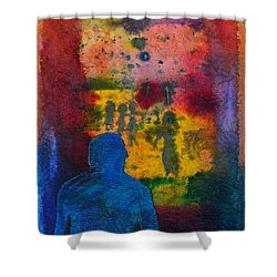 Window To The Other Side Shower Curtain by Donna Blackhall