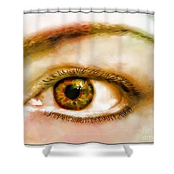 Window To The Soul II Shower Curtain by Debbie Portwood