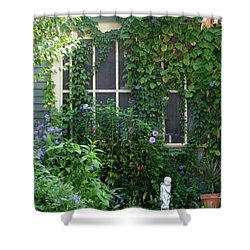 Shower Curtain featuring the photograph Window With A View by John Glass