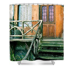 Shower Curtain featuring the photograph Windows And Doors 25 by Maria Huntley