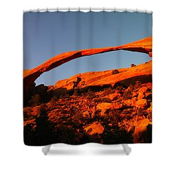 Windows Arch In The Morning Shower Curtain by Jeff Swan