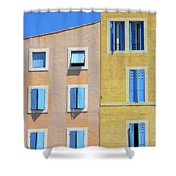 Shower Curtain featuring the photograph Windows Martigues Provence France by Dave Mills