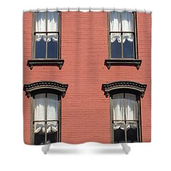 Shower Curtain featuring the photograph Window's Of Hudson Ny by Ira Shander