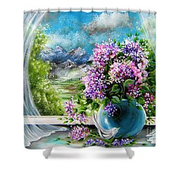 Windows Of My World Shower Curtain by Patrice Torrillo