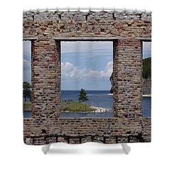 Windows On Snail Shell Harbor Shower Curtain