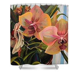 Windowsill Orchids Shower Curtain