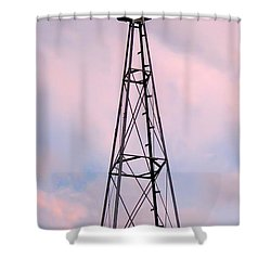 Shower Curtain featuring the photograph Windpump by Brian Wallace